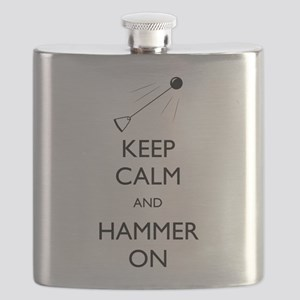 Keep Calm and Hammer On Flask