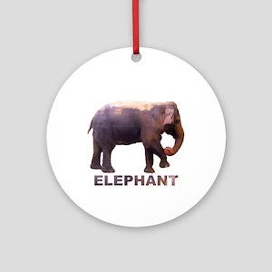 elephant4 Ornament (Round)