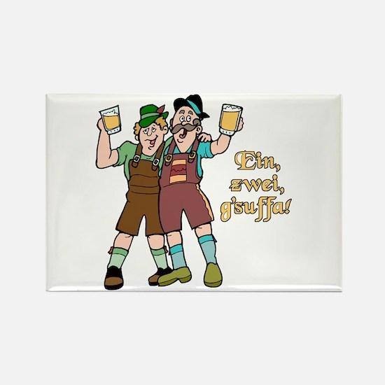 Drink Up Oktoberfest Rectangle Magnet