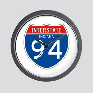 Interstate 94 - IN Wall Clock