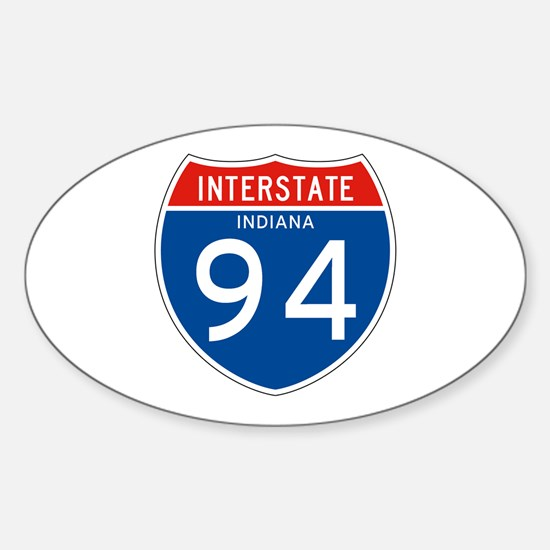 Interstate 94 - IN Oval Decal
