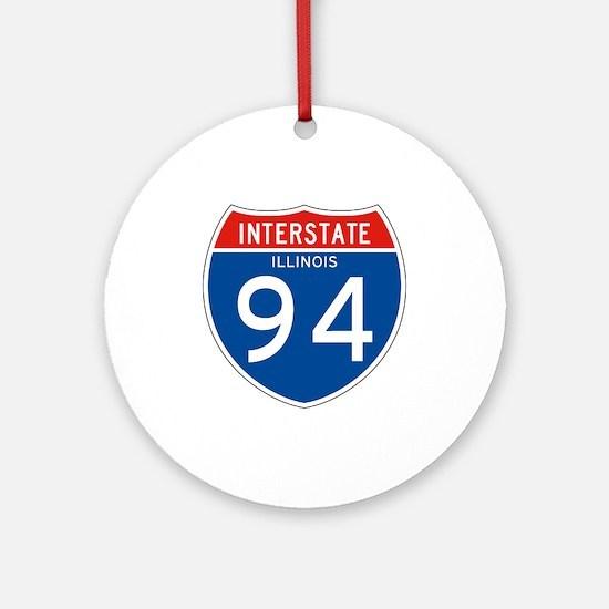 Interstate 94 - IL Ornament (Round)