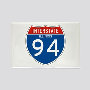 Interstate 94 - IL Rectangle Magnet