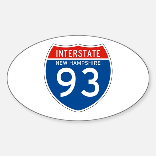 Interstate 93 - NH Oval Decal