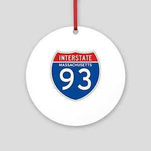 Interstate 93 - MA Ornament (Round)