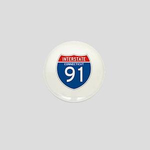 Interstate 91 - CT Mini Button
