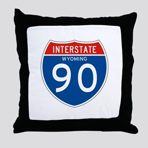 Interstate 90 - WY Throw Pillow