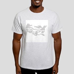 USA MAP Ash Grey T-Shirt