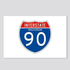 Interstate 90 - WI Postcards (Package of 8)