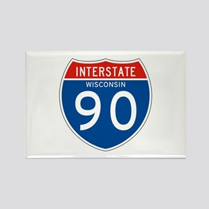 Interstate 90 - WI Rectangle Magnet
