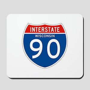 Interstate 90 - WI Mousepad
