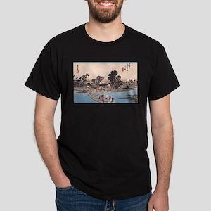 Ukiyoe River Life Kawasaki Dark T-Shirt