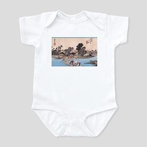 Ukiyoe River Life Kawasaki Infant Bodysuit
