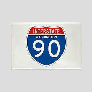 Interstate 90 - WA Rectangle Magnet