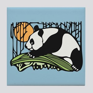 Sun and Panda Tile Coaster