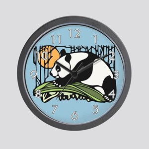 Sun and Panda Wall Clock