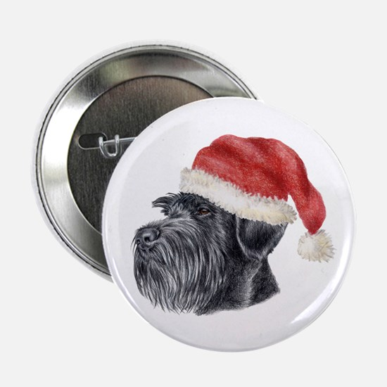 Christmas Giant Schnauzer Button