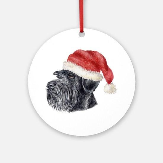 Christmas Giant Schnauzer Ornament (Round)