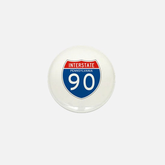 Interstate 90 - PA Mini Button