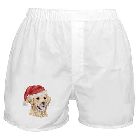 Christmas Golden Retriever Boxer Shorts