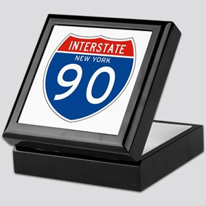 Interstate 90 - NY Keepsake Box