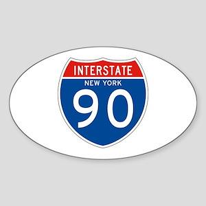 Interstate 90 - NY Oval Sticker