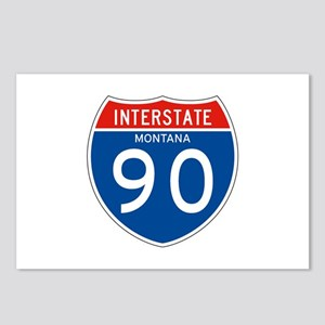 Interstate 90 - MT Postcards (Package of 8)