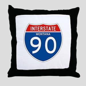 Interstate 90 - MT Throw Pillow