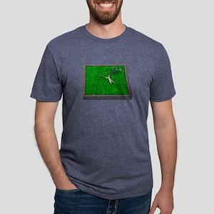 WateringCanTrimmersOnGrass1 Mens Tri-blend T-Shirt
