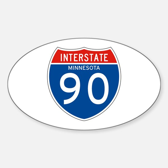 Interstate 90 - MN Oval Decal