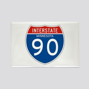 Interstate 90 - MN Rectangle Magnet