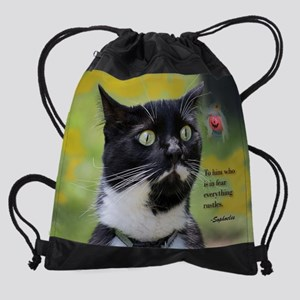Halloween Kitty Drawstring Bag