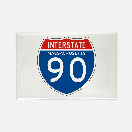 Interstate 90 - MA Rectangle Magnet
