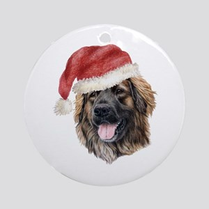 Christmas Leonberger Ornament (Round)