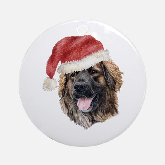 Christmas Leonberger Ornament (Round)