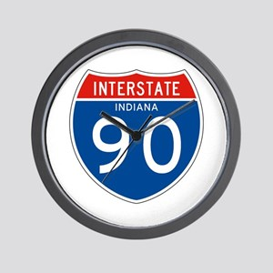 Interstate 90 - IN Wall Clock