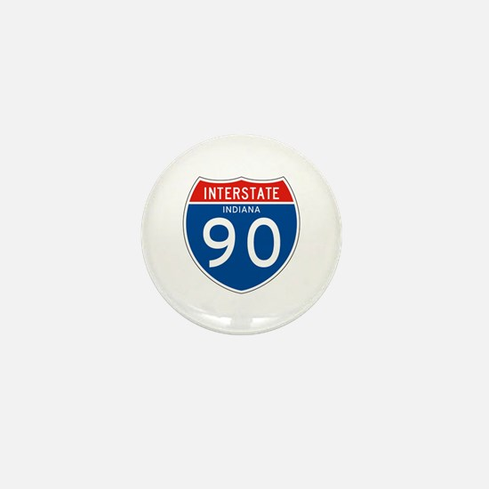 Interstate 90 - IN Mini Button