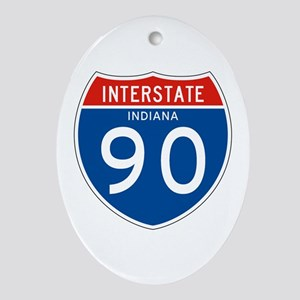 Interstate 90 - IN Oval Ornament