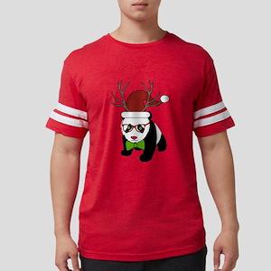 Hipster Christmas Panda Mens Football Shirt
