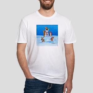 Snow Corgis III Fitted T-Shirt