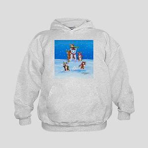 Snow Corgis III Kids Hoodie