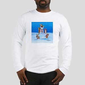 Snow Corgis III Long Sleeve T-Shirt