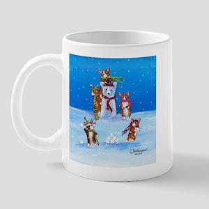 Snow Corgis III Mug