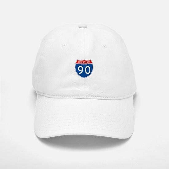 Interstate 90 - IL Baseball Baseball Cap