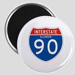 Interstate 90 - IL Magnet