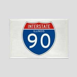 Interstate 90 - IL Rectangle Magnet