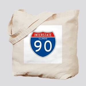 Interstate 90 - IL Tote Bag