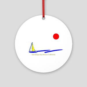 San Diego Bay Ornament (Round)