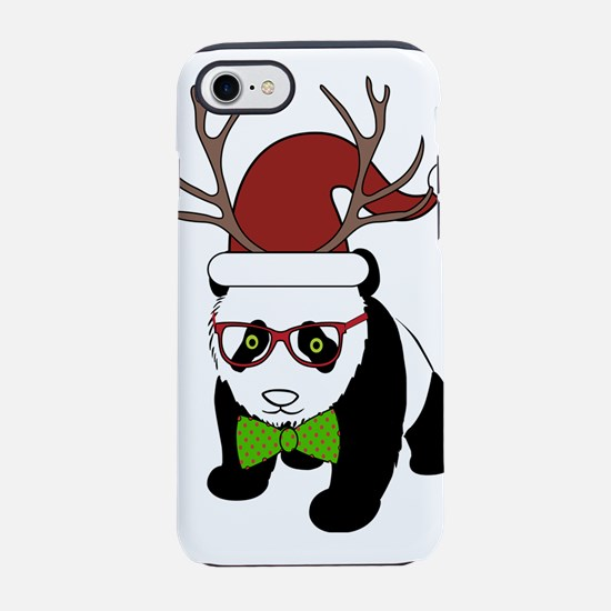 Hipster Christmas Panda iPhone 7 Tough Case