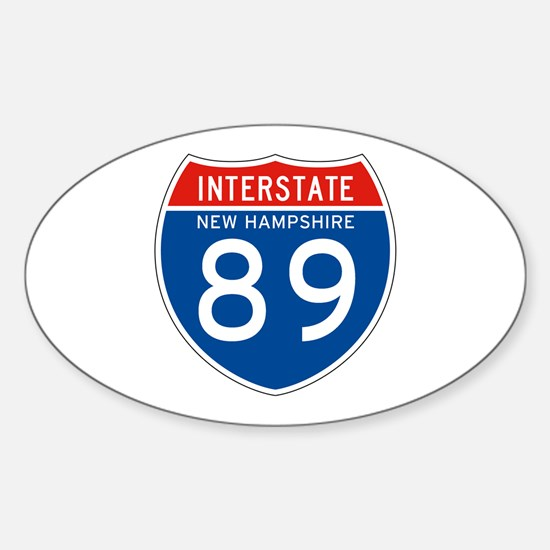 Interstate 89 - NH Oval Decal
